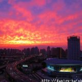 断酒主婦はるかが撮った上海の夕焼け